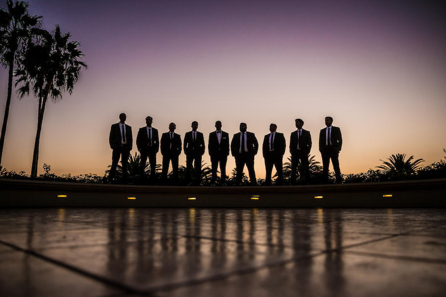 outdoor groomsmen photography