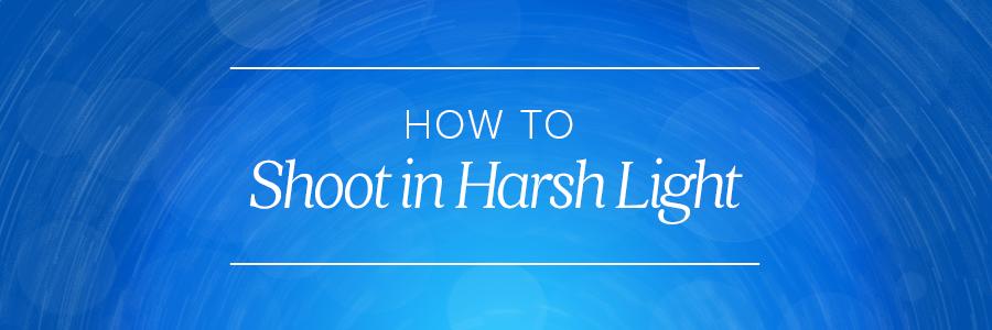 how to shoot in harsh light