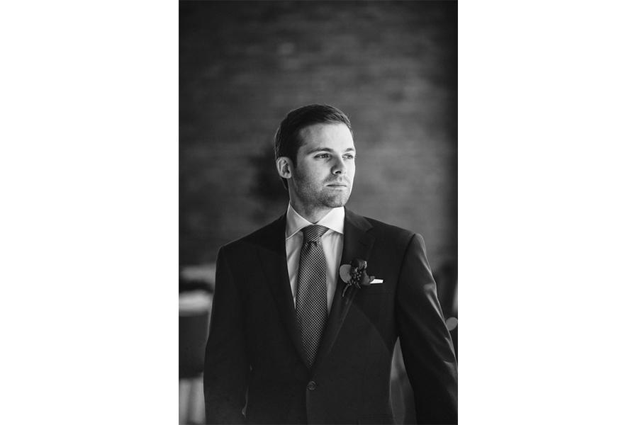 groom side profile black and white