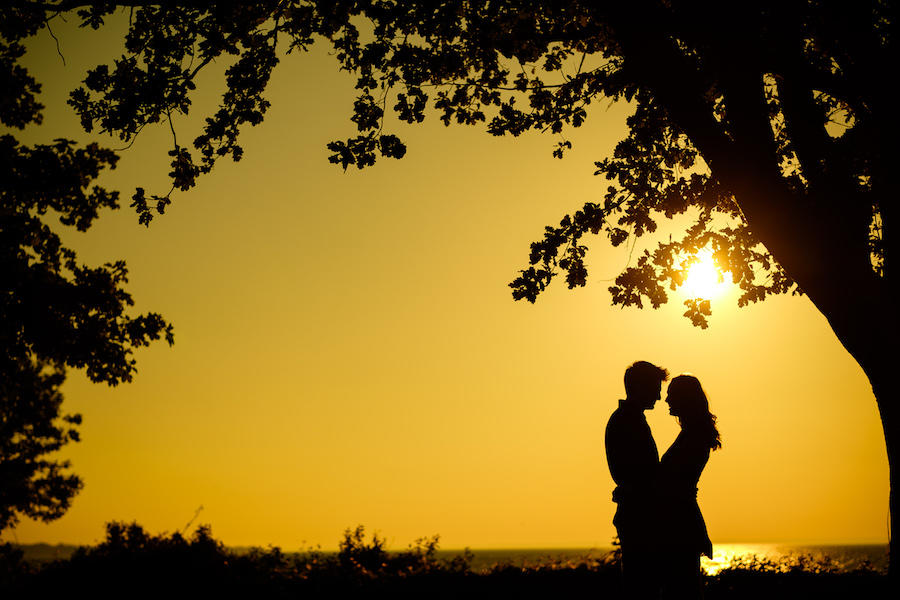 sun couple silhouette