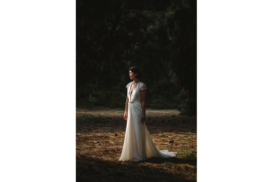 side profile bridal portraits