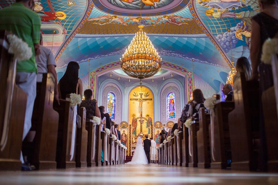 indoor church ceremony