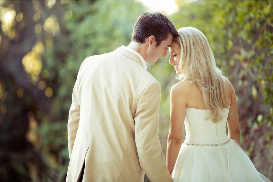 outdoor wedding photography couple