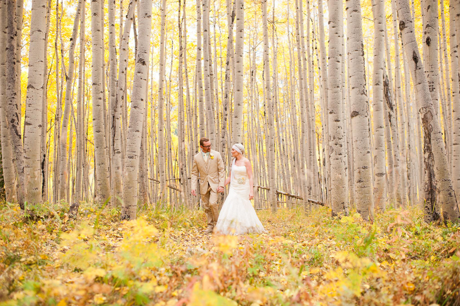 outdoor wedding photography trees and leaves
