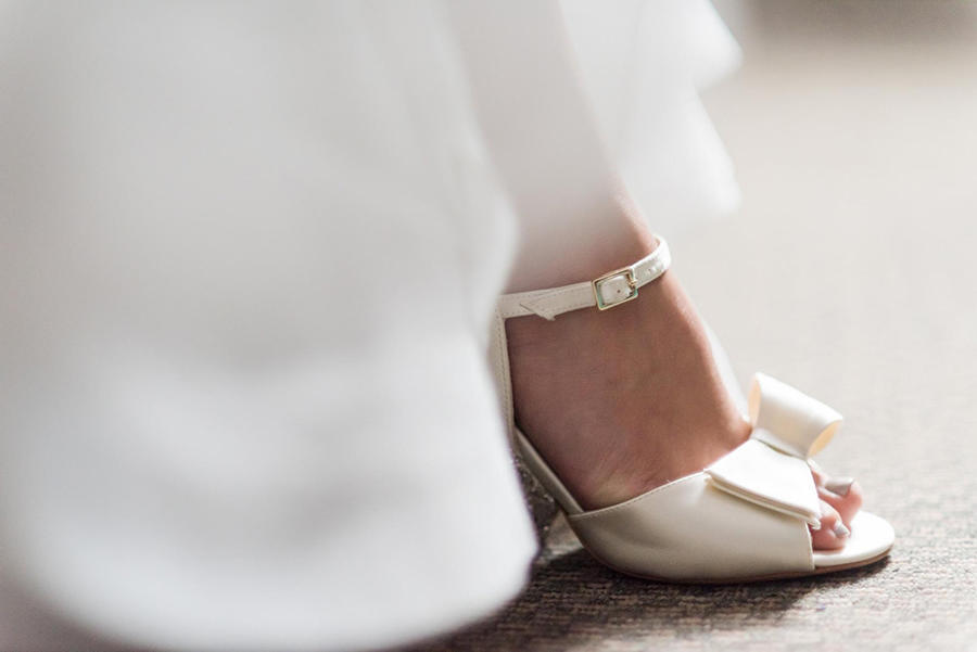wedding photography shoe details