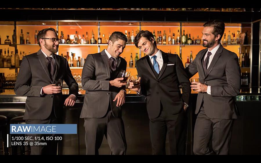 indoor flash photo groomsmen