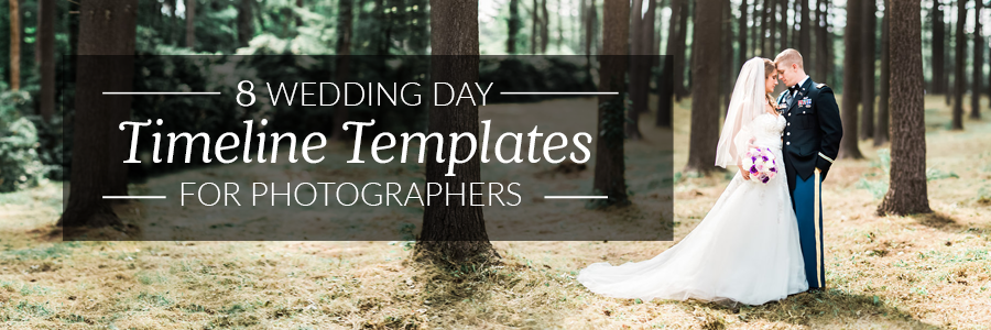 8 free wedding day timeline templates