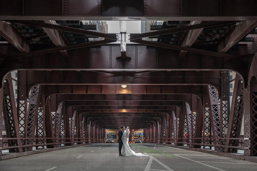 bridge wedding photography