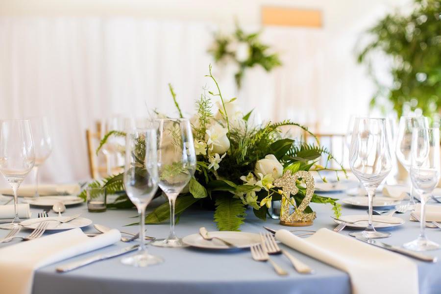 lighting wedding reception details