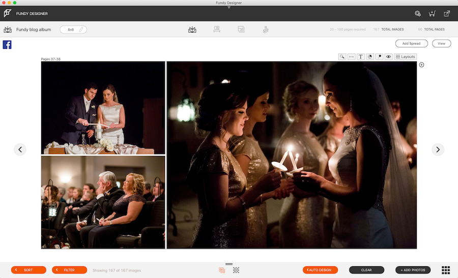 A look at Fundy Designer's tool for photographers to build a wedding album.