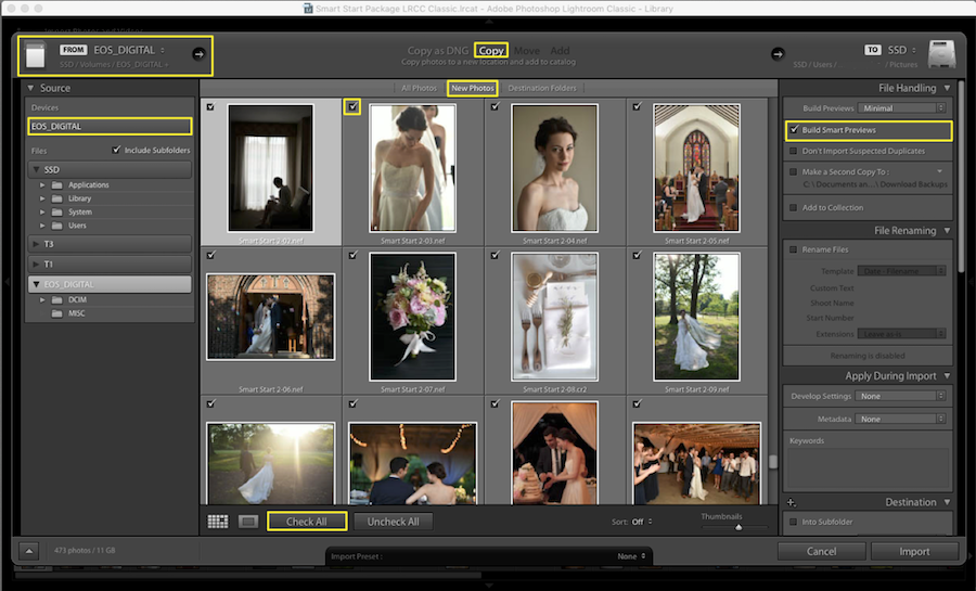 build smart preview lightroom