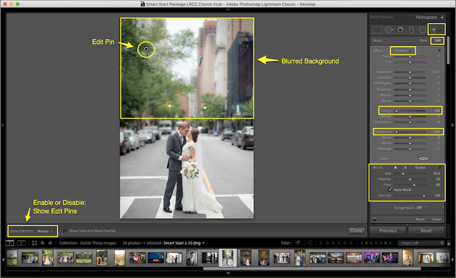 lightroom blur background settings