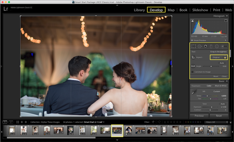 lightroom crop settings