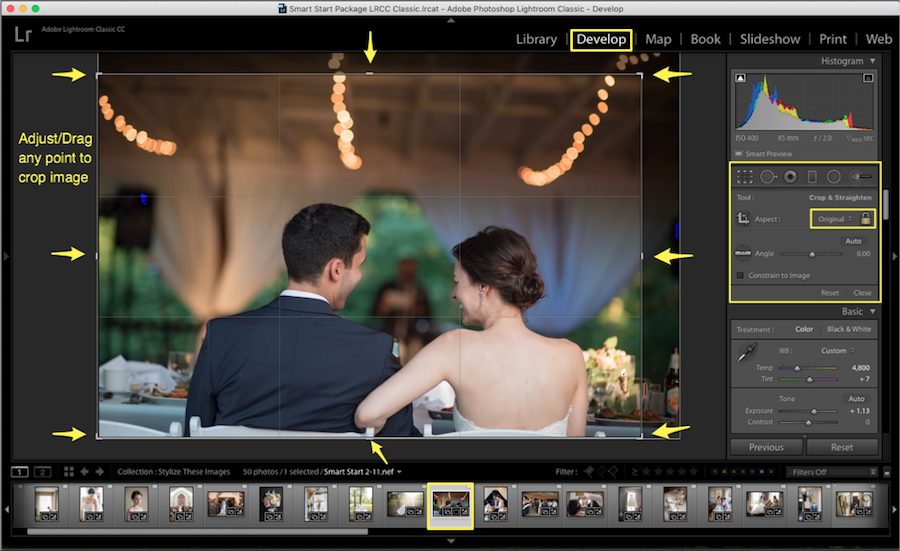 adjust drag image crop in lightroom