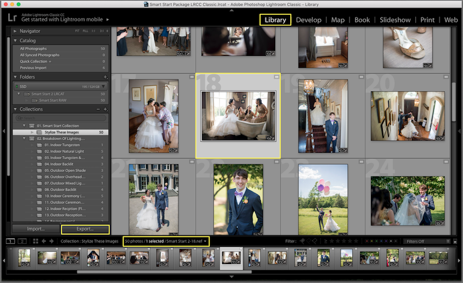 lightroom save photos
