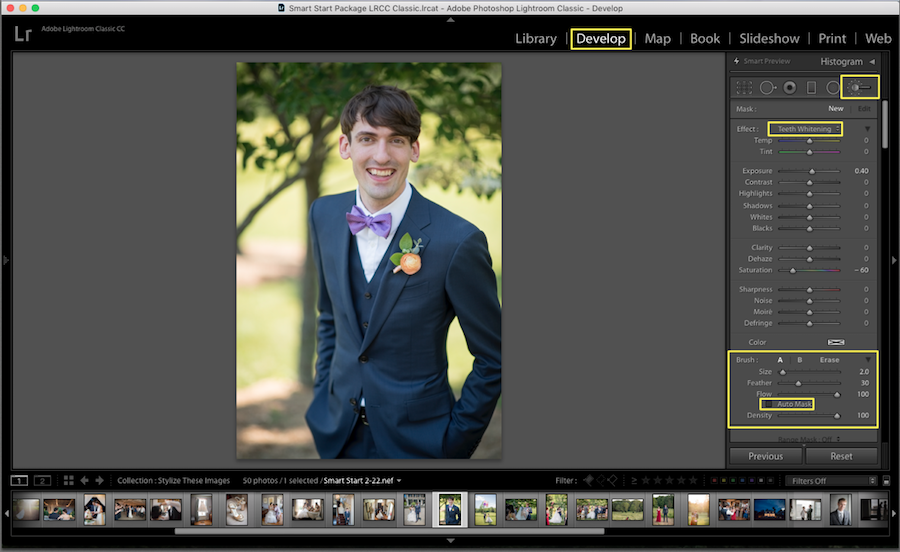 select whitening lightroom