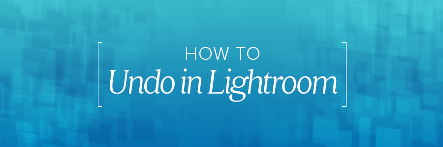 how to undo in lightroom