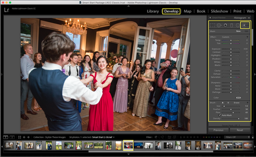 choose blur brush lightroom