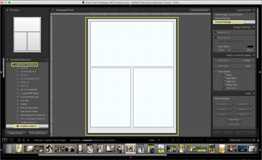 collage template lightroom