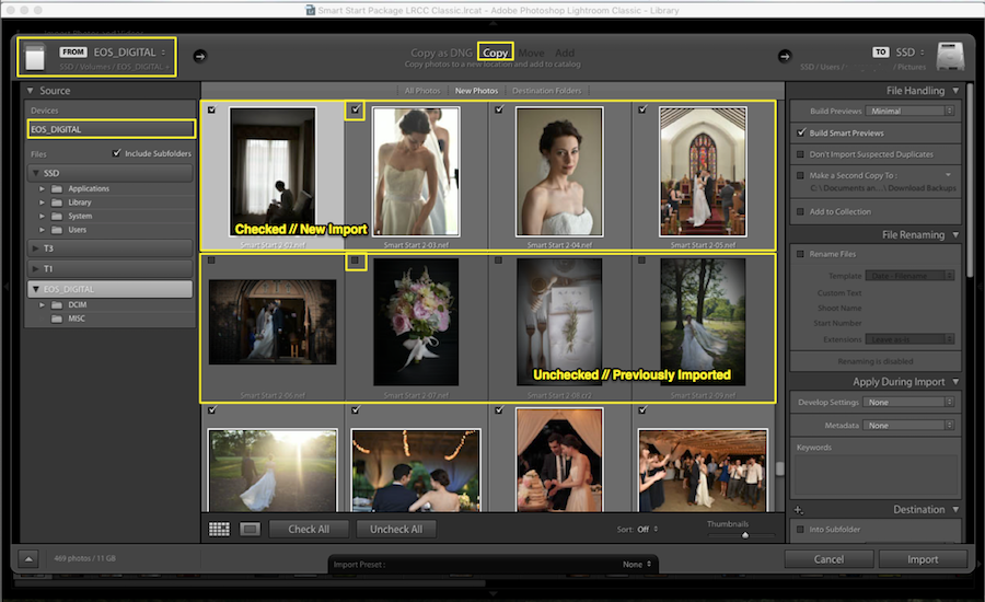 choose files lightroom import