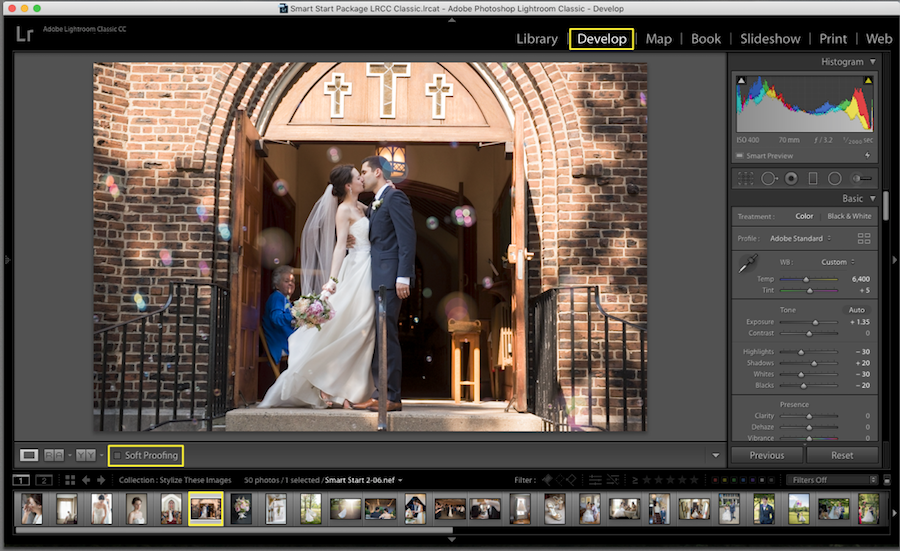soft proofing mode lightroom