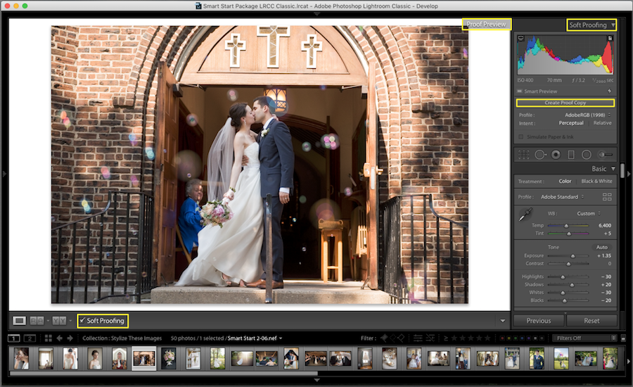 create virtual copy lightroom soft proofing