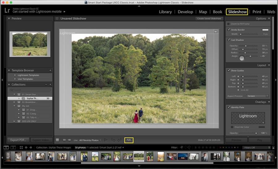 slideshow mode lightroom