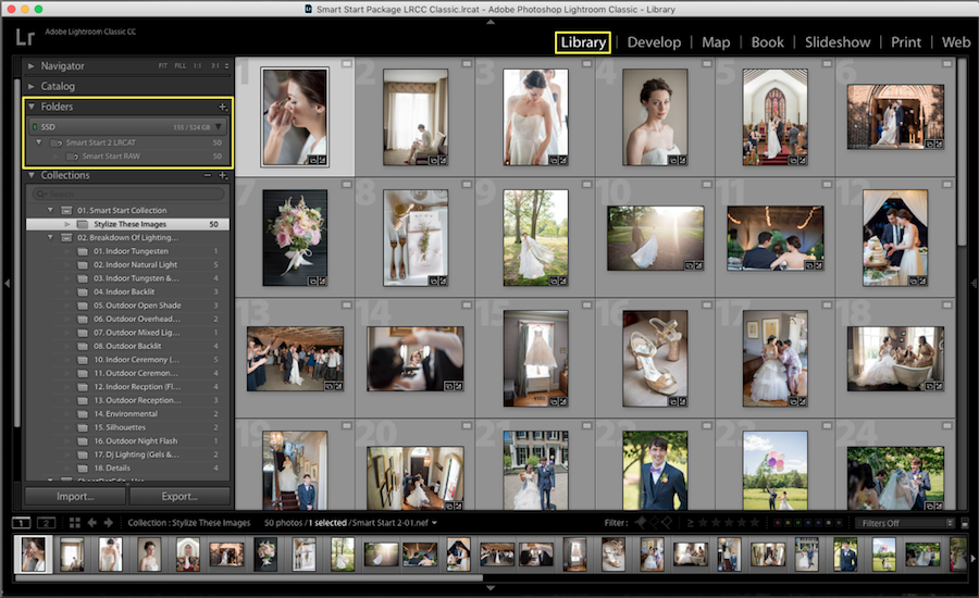 organize photos lightroom folders