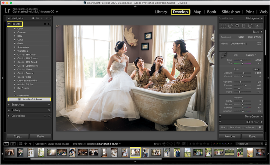 how to apply presets in lightroom