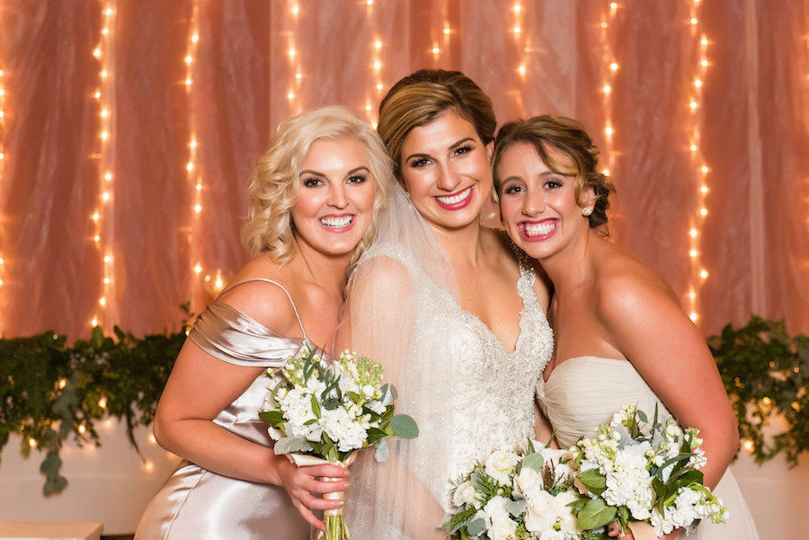 bride and bridesmaids indoor photo with best photography lighting
