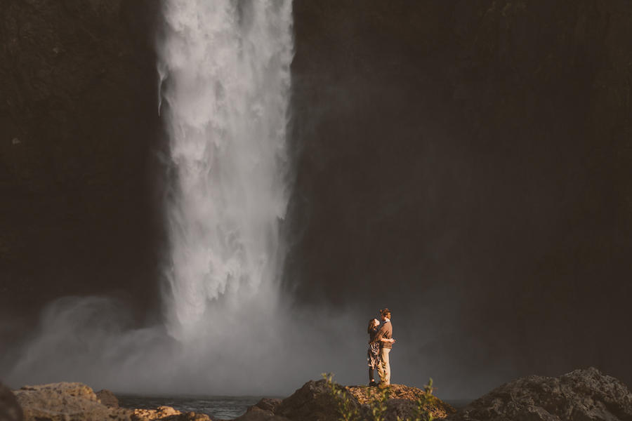 engagement session waterfall background