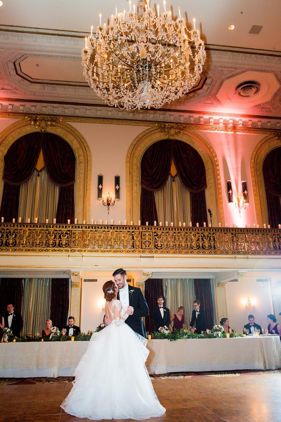 first dance wedding reception chandelier
