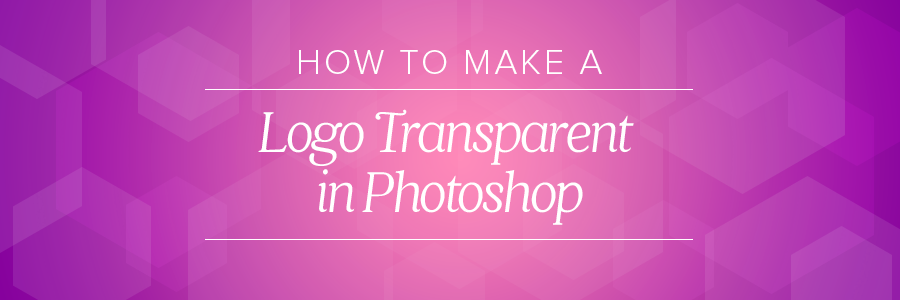 how to make a logo transparent in Photoshop