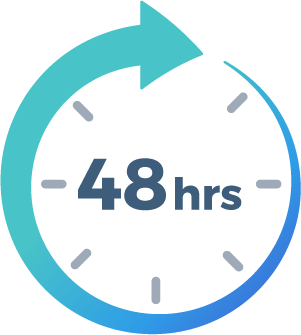 We provide turnaround time on our edits in as fast as 48 hours