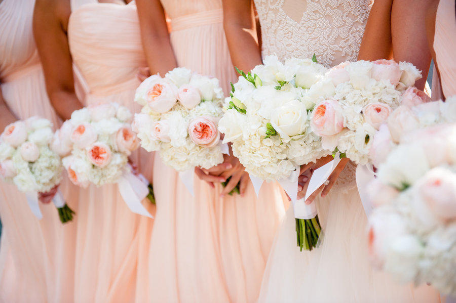 A wedding bridal party image by Leeann Marie of the girls' bouquets.