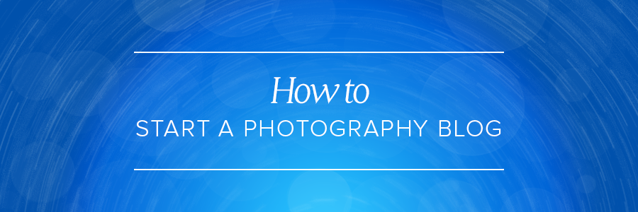 Graphic displaying how to start a photography blog
