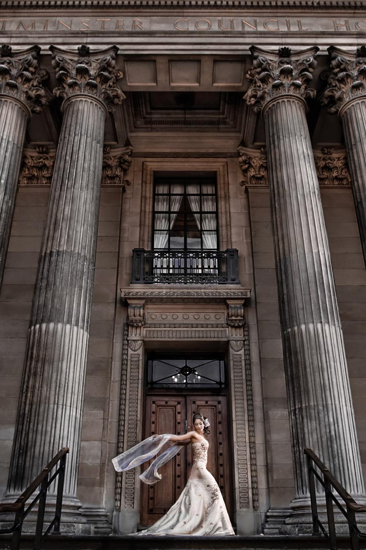 A stunning bridal image captured by Sanjay Jogia