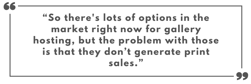 Quote on how Extra generates print sale