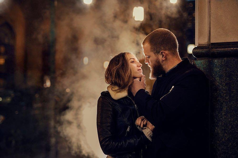 couple in Philadelphia winter