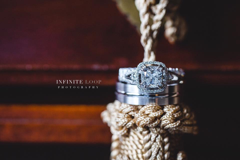 Wedding ring photography by Infinite Loop Photography