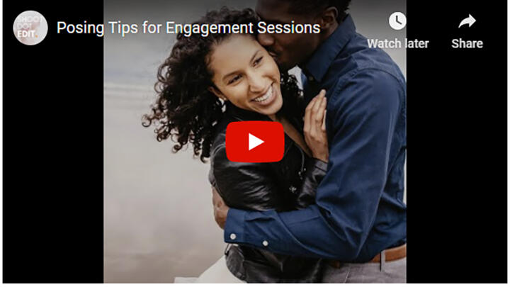 engagement session posing tips video
