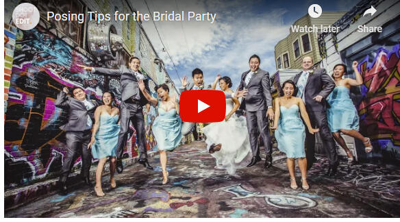 posing tips for bridal party video capture