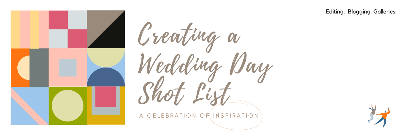 Infographic displaying creating a wedding day shot list