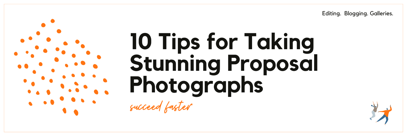Graphic displaying 10 tips for taking stunning proposal photographs