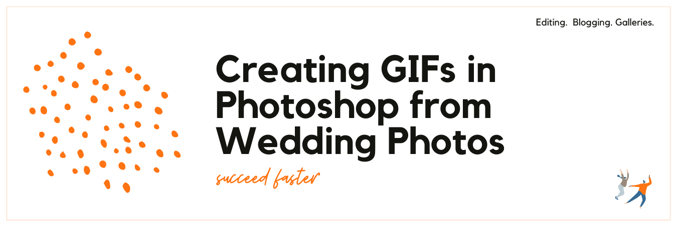 Infographic displaying - Creating GIFs with Wedding Photos