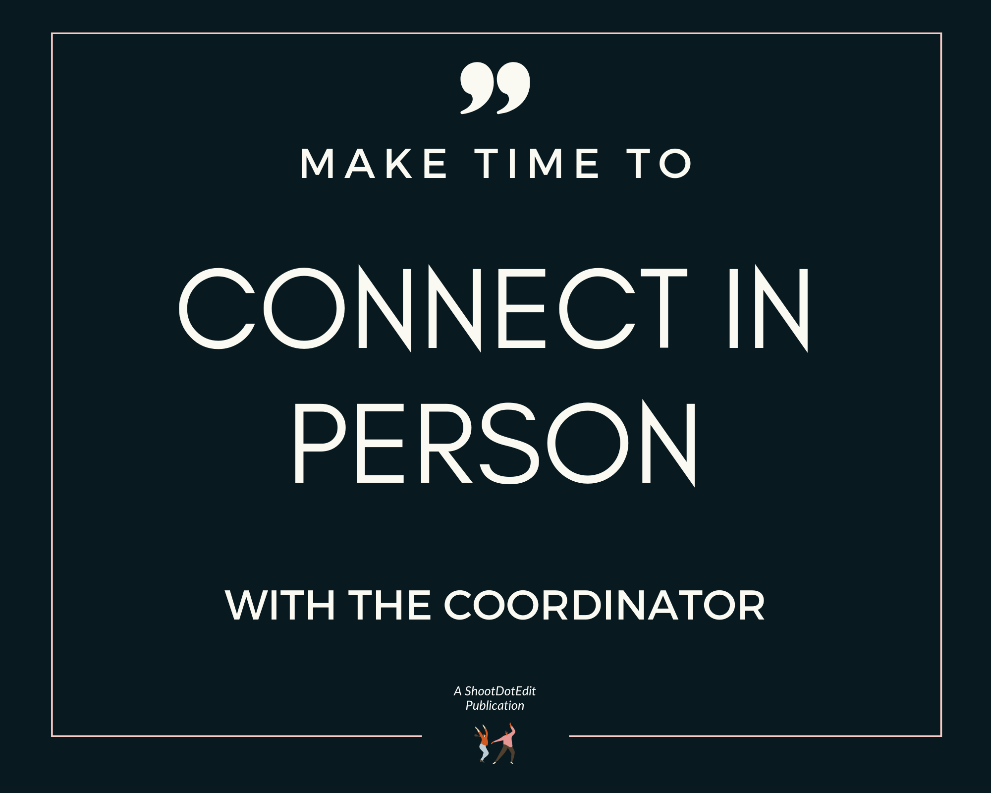 Make time to connect in person with the coordinator to be on a venue's preferred vendor list