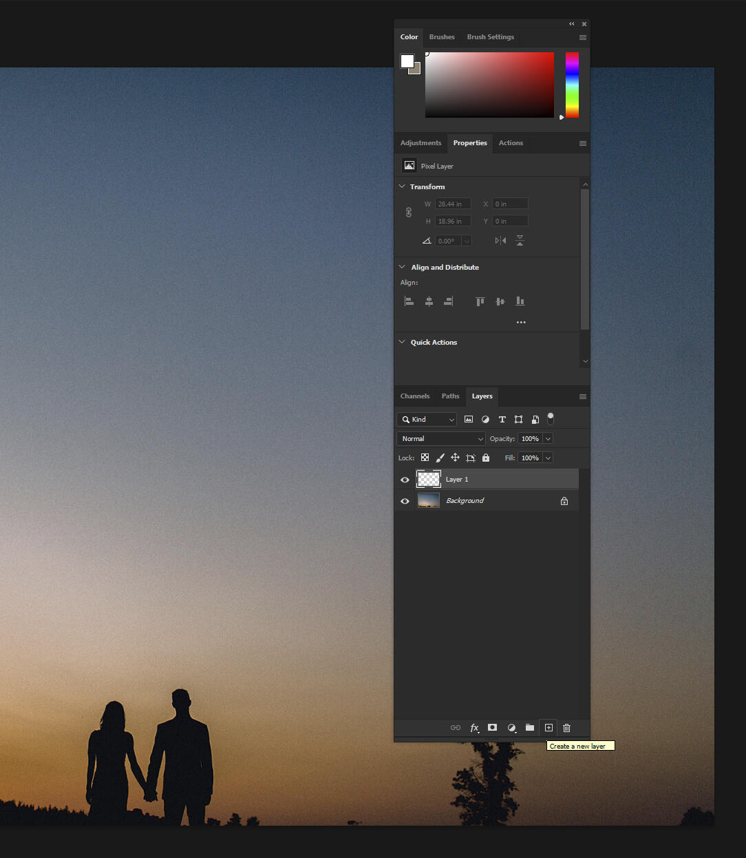 Creating a new layer in Photoshop to burn and dodge in a non-destructive way