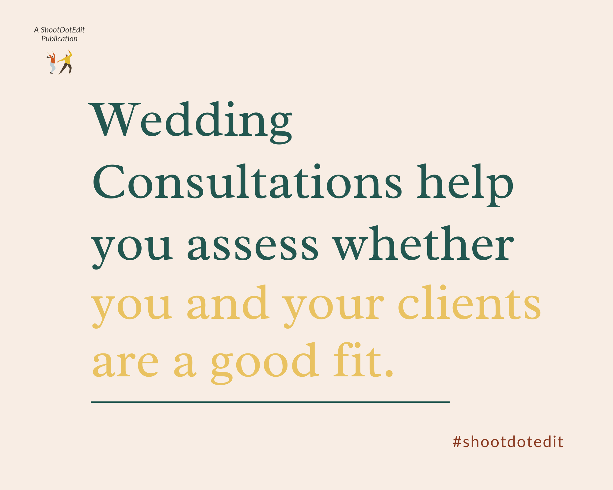 Infographic - Wedding consultations help you assess whether you and your clients are a good fit